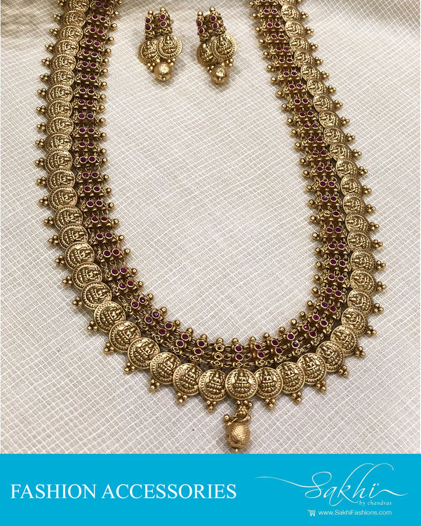 AJDS-20821 -  Mix Metal Necklace & Earring