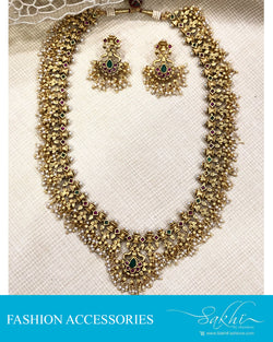 AJDS-20825 -Mix Metal Necklace & Earring
