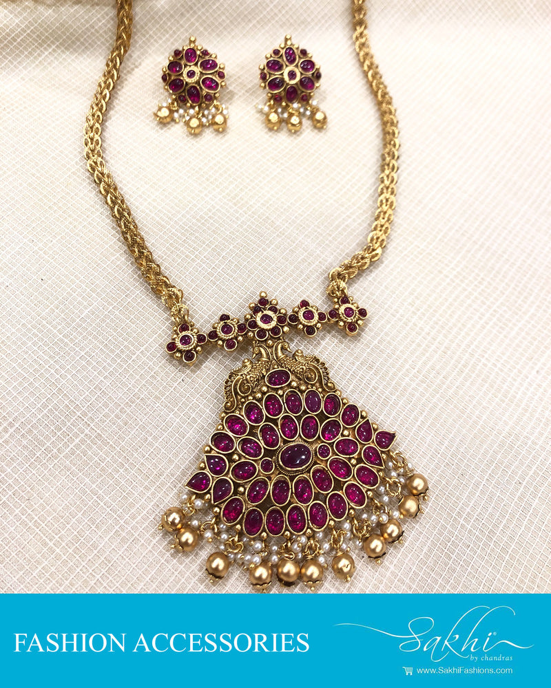 AJDS-20829 -Mix Metal Necklace & Earring
