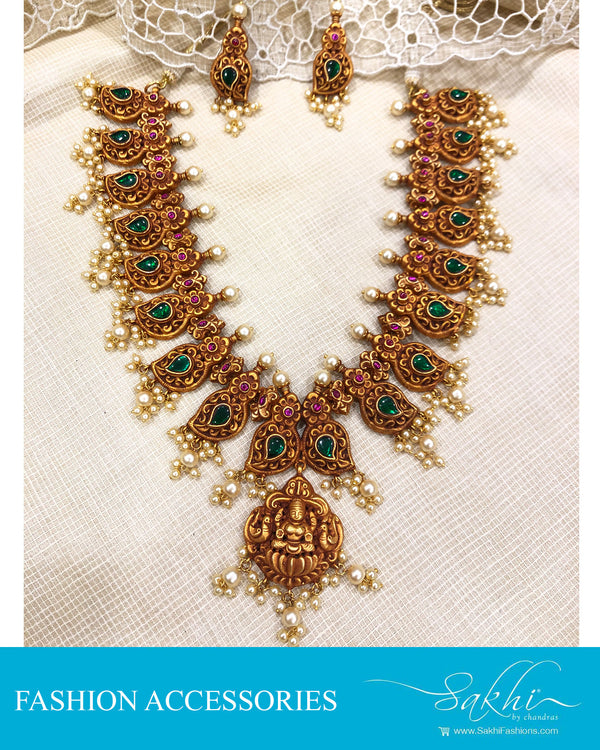 AJDS-20981 -Mix Metal Necklace & Earring