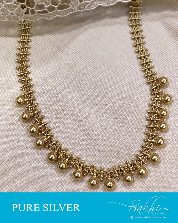 ASDQ-19050 - Gold plated Silver Necklace