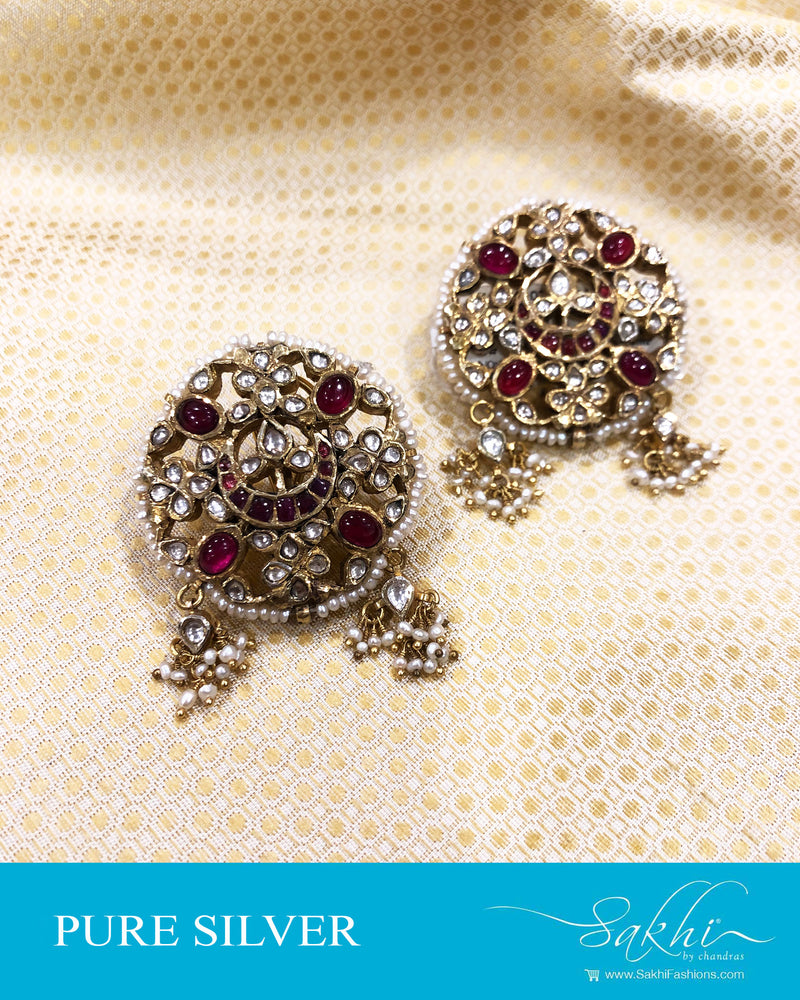 ASDS-20865 - Silver &  pure Silver Earring