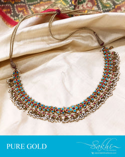 AGDS-20866 - Gold &  pure Gold Necklace