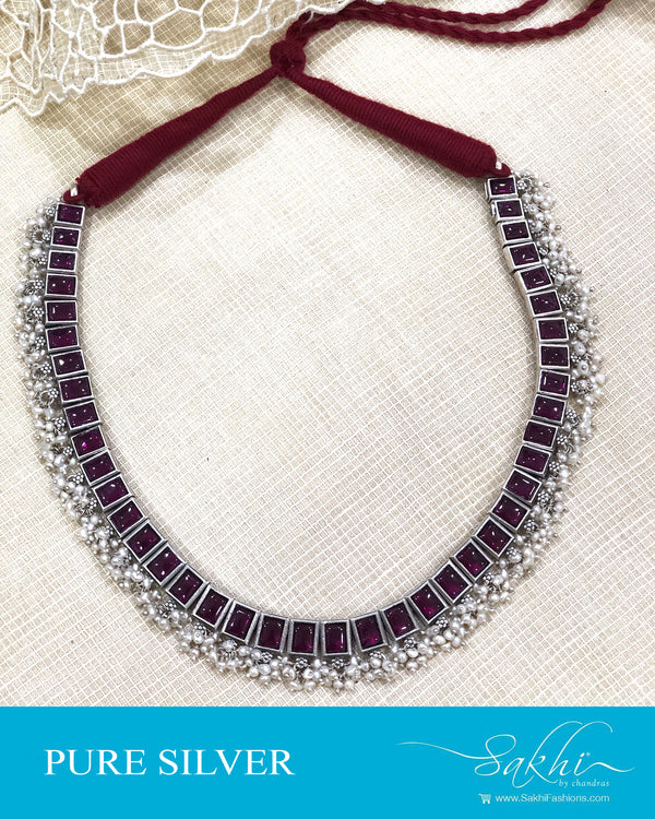 ASDS-20923 - Silver pure Silver Necklace