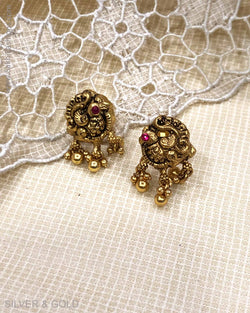 ASDS-23231 - Stud earring Silver & Gold