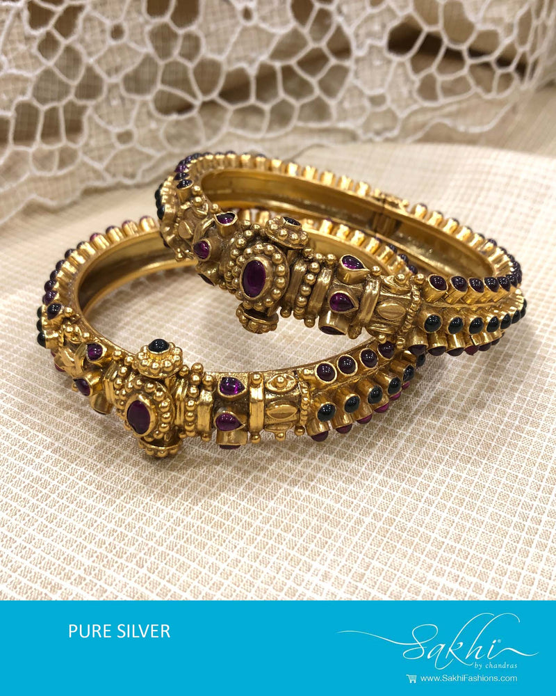 ASDS-T003 - Gold pure Silver Bangle