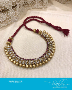 ASDS-T014 - Gold pure Silver Necklace