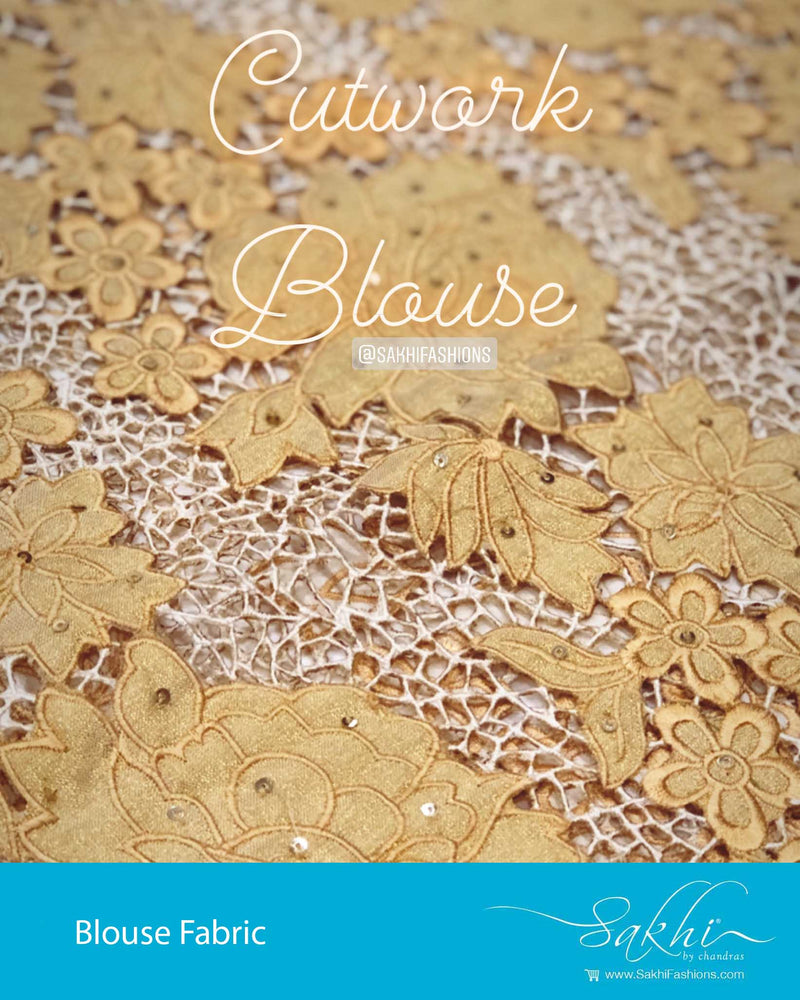 BL-F21425 - Gold Tissue silk Blouse Fabric