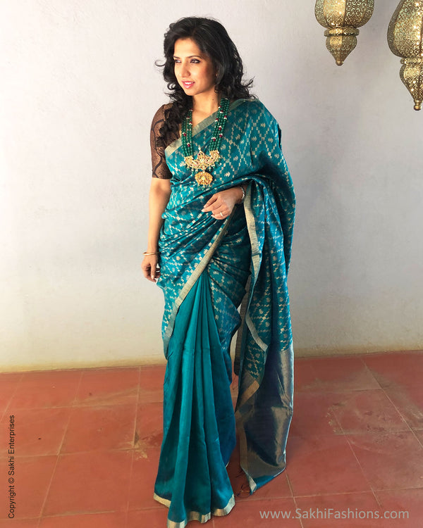 EE-S19410 - Green Matka Silk Saree