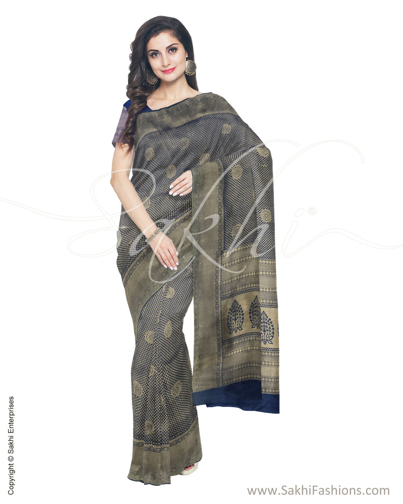 ITS-20187 - Blue &  Faux Silk Saree
