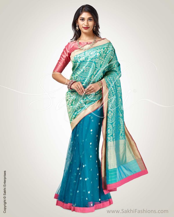 SR-0892 - Green &  pure Banaras Silk Saree
