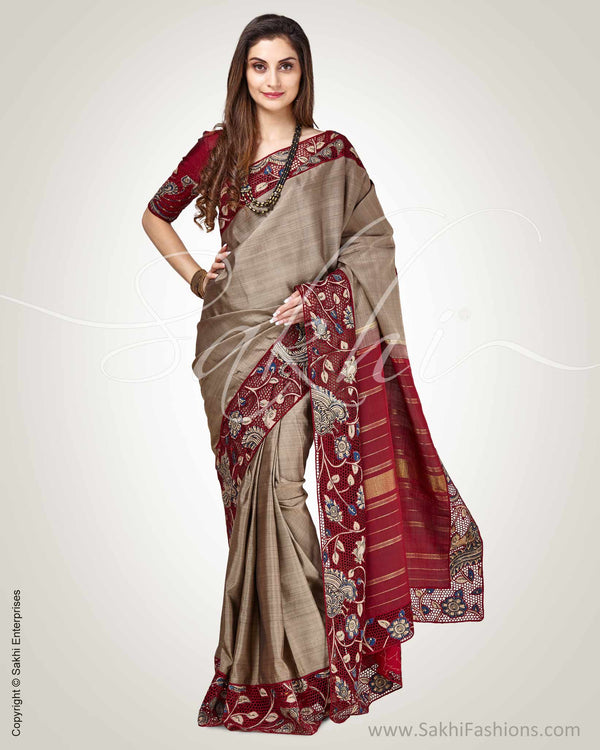 SR-0893 - Grey &  pure Kanchivaram Silk Saree