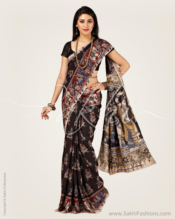 SR-0900 - Black pure Silk Saree