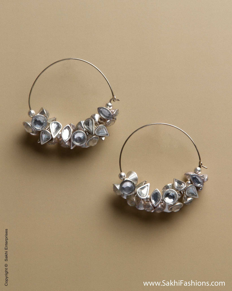 AD-0019 Silver Hoops