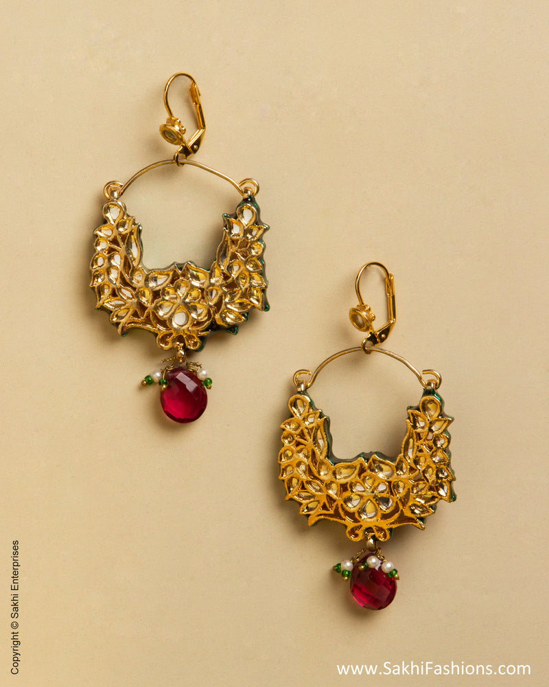 AD-0042 Ruby & Gold Mix Metal Hanging