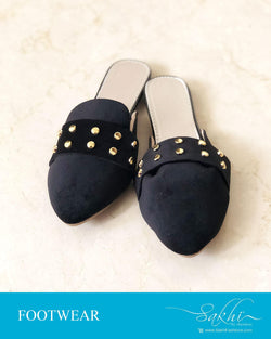 AFDR-23915 - Black & Gold Foot Wear