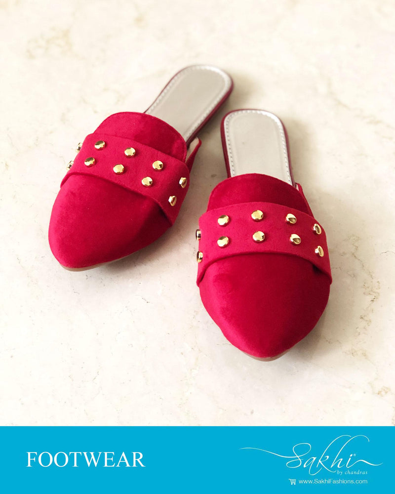 AFDR-23920 - Red & Gold Foot Wear