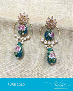 AGDP-12838 Green Gold Earring