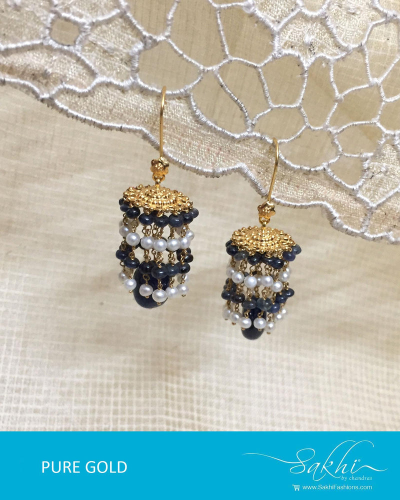 AGDR-0008 - Gold & Multi Pure Gold Earring