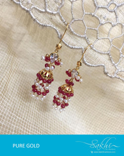 AGDR-0009 - Gold & Multi Pure Gold Earring