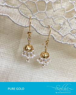 AGDR-0010 - Gold & Cream Pure Gold Earring