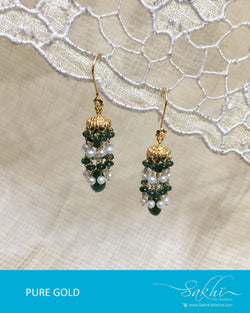 AGDR-0011 - Gold & Multi Pure Gold Earring