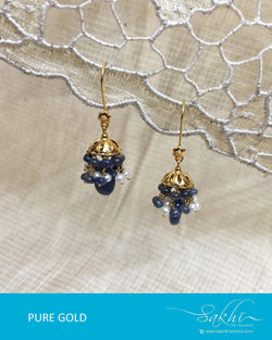 AGDR-0012 - Gold & Multi Pure Gold Earring