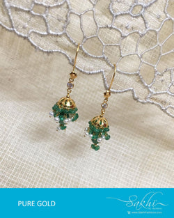 AGDR-0015 - Gold & Multi Pure Gold Earring