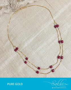 AGDR-0018 - Gold & Multi Pure Gold Chain