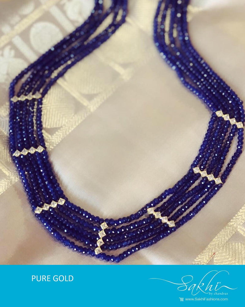 AGDR-10301 - Pure Gold Blue Mala