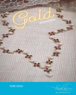 AGDR-20781 - Multi &  Gold Pearl chain