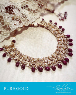 AGDR-23894 - Gold &  Gold Necklace