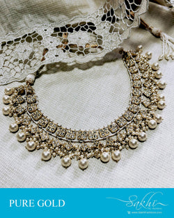 AGDR-23895 - Gold &  Gold Necklace
