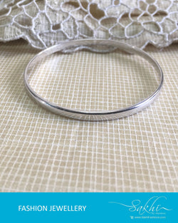 AJDR-3423 - Silver  Mix Metal Bangle