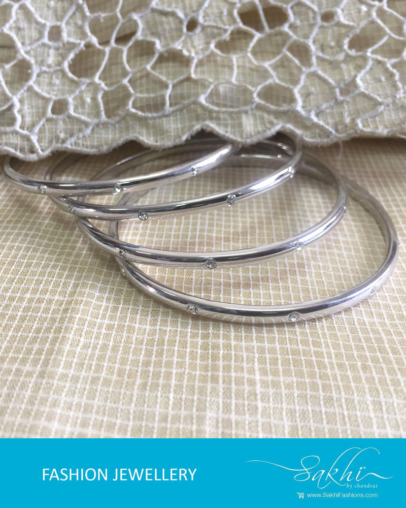 AJDR-3429 - Silver  Mix Metal Bangle