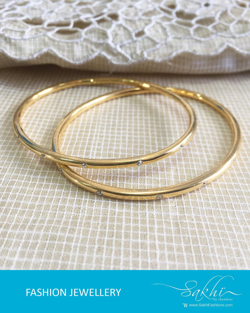 AJDR-3436 - Gold  Mix Metal Bangle