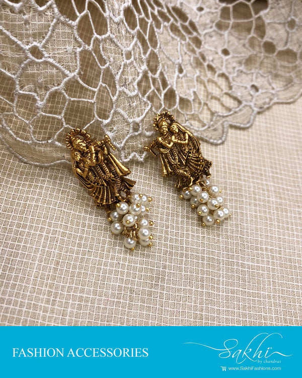 AJDS-24589 - Gold &  Mix Metal Earring