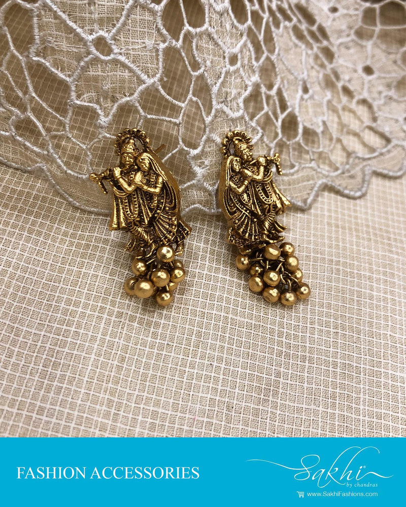 AJDS-24590 - Gold &  Mix Metal Earring