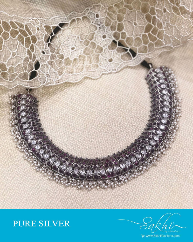 ASDS-17496 - Silver pure Antique Silver Necklace