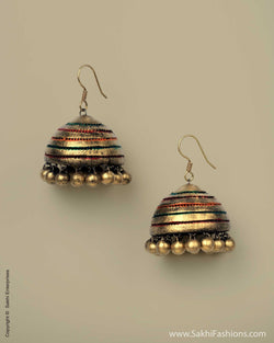 AT-0018 Golden Jhumka