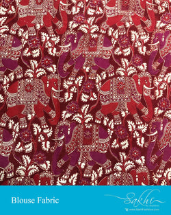 BL-S11904 - Red pure Silk Blouse Fabric