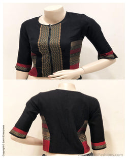 BL-S15869 - Black Cotton Blouse