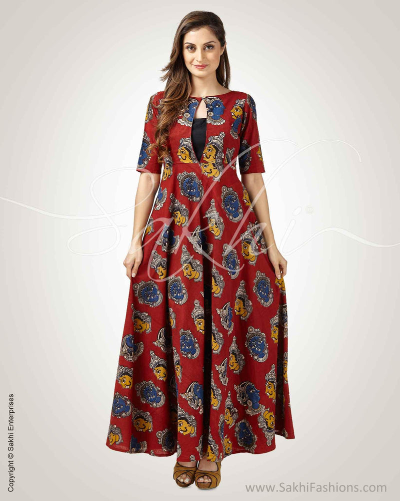 CDQ-8859 - Maroon &  Pure Cotton Indowestern