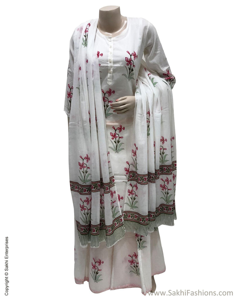 DPS-17411 - Cream &  Pure Cotton Dress