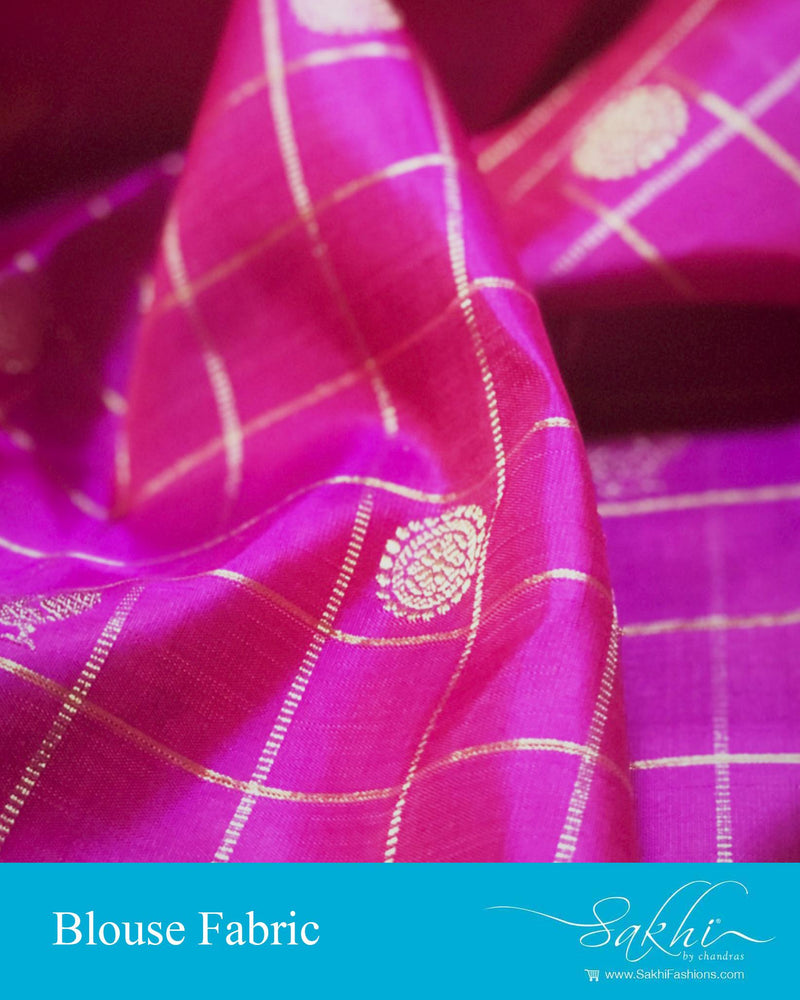 DRBL-22928 - Pink &  Pure Kanchi Silk  Blouse Fabric