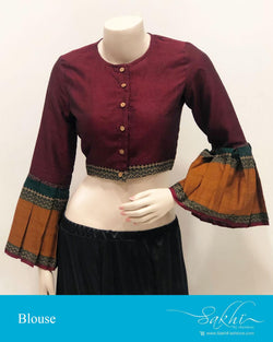 DRBS-14198 - Maroon &  Pure Cotton Blouse