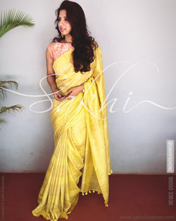 EE-R24415 Yellow Munga CottonSilk
