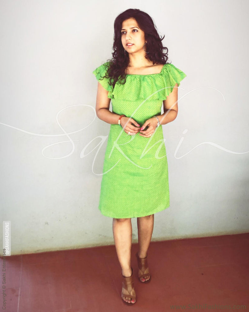 EE-R26597 - Green &  Pure Cotton Indowestern