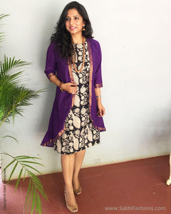 EE-S12572 - Purple &  Pure Cotton Jacket