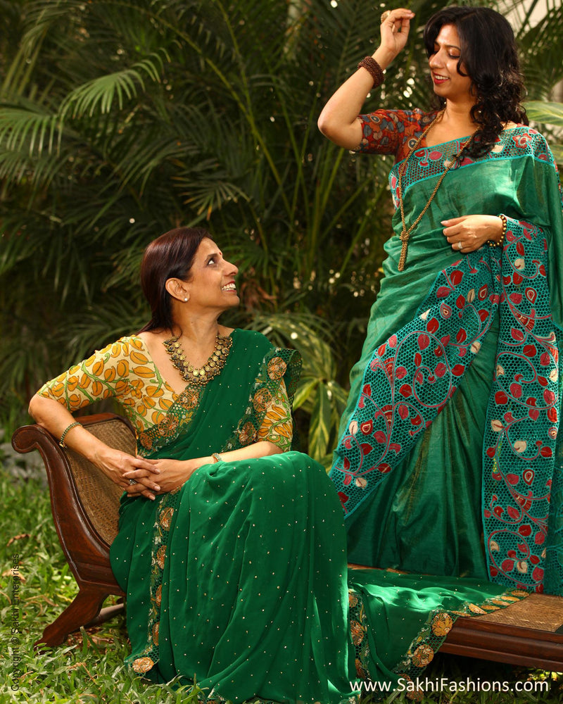 EEP-L4G - Green & Multi  Saree